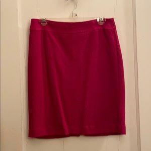 Gorgeous hot pink wool skirt
